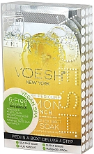 Düfte, Parfümerie und Kosmetik 4-stufige Lemon Quench Fußpflege - Voesh Deluxe Pedicure Lemon Quench In A Box 4in1 (1. Meer Badesalz, 2. Zuckerpeeling, 3. Schlammmaske, 4. Massagebutter)(35 g)