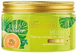 Düfte, Parfümerie und Kosmetik Feuchtigkeitsspendendes Zuckerpeeling für den Körper mit Melonenextrakt - Bielenda Exotic Paradise Peel