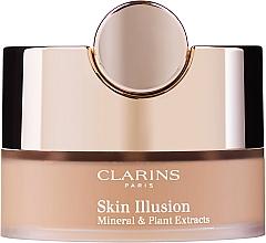 Düfte, Parfümerie und Kosmetik Loser Gesichtspuder mit Pinsel - Clarins Skin Illusion Loose Powder Foundation