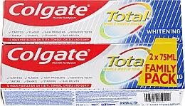 Düfte, Parfümerie und Kosmetik Zahnpasta Total Whitening 2 St. - Colgate Total Whitening Toothpaste Duopack
