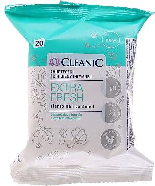 Erfrischende Feuchttücher für die Intimhygiene mit Milchsäure, 20 St - Cleanic Extra Fresh Wipes — Bild N3
