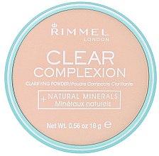 Düfte, Parfümerie und Kosmetik Gesichtspuder - Rimmel Clear Complexion Powder