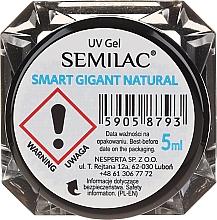 Düfte, Parfümerie und Kosmetik UV Aufbaugel Gigant Natural 1 Phasen - Semilac Smart Gigant Natural