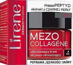 Düfte, Parfümerie und Kosmetik Aufbauende Anti-Aging Nachtcreme mit schwarzem Perlenextrakt - Lirene Mezo Collagene
