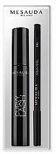 Düfte, Parfümerie und Kosmetik Augenpflegeset (Mascara 13ml + Kajalstift 1.4g) - Mesauda Milano Curvy Lash