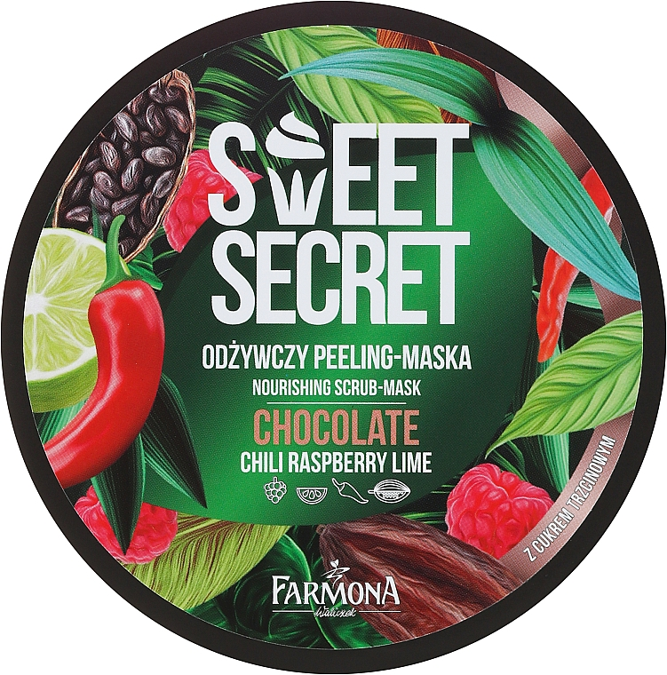 Pflegende Körperpeeling-Maske mit Chili, Himbeere, Limette und Kakaobohnenextrakt - Farmona Sweet Secret Chocolate Peeling-mask — Bild N1