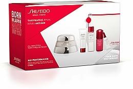 Düfte, Parfümerie und Kosmetik Gesichtspflegeset - Shiseido Bio-Performance Time Fighting Ritual (Gesichtscreme 50ml + Gesichtskonzentrat 10ml + Reinigungsschaum 15ml + Gesichtslotion 30ml + Augenkonzentrat 3ml + Kosmetiktasche)