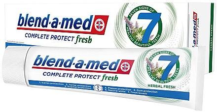 Zahnpasta Complete Protect Fresh 7 Herbal Fresh - Blend-a-Med Complete Protect Fresh 7 Herbal Fresh Toothpaste — Bild N2