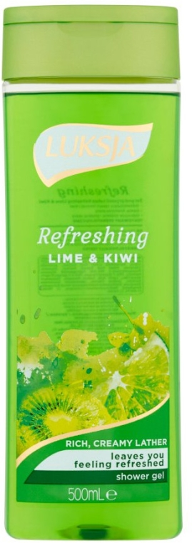"Duschgel ""Limette & Kiwi"" - Luksja Refreshing Lime & Kiwi Shower Gel"
