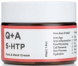 Düfte, Parfümerie und Kosmetik Anti-Aging Gesichts- und Halscreme - Q+A 5-HTP Face & Neck Cream