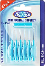 Düfte, Parfümerie und Kosmetik Interdentalzahnbürsten 0,6 mm blau 6 St. - Beauty Formulas Active Oral Care Interdental Brushes Blue