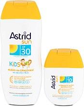Sonnenschutz Pflegeset - Astrid Sun Kids Milk (Sonnenschutzmilch für Kinder SPF30 200ml + Sonnencreme SPF 10 80ml) — Bild N1