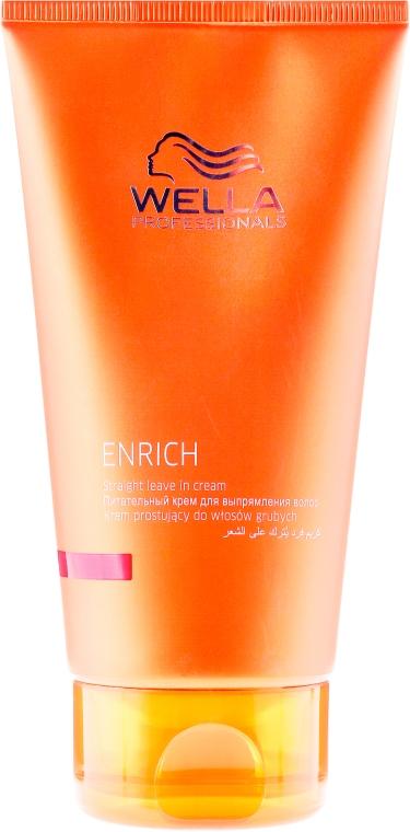 Glättungscreme für wirres, krauses und geschädigtes Haar - Wella Professionals Enrich Straight Leave In Cream — Bild N1