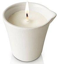 Massagekerze in dekorativem weißen Keramiktiegel Bambus - Organique Spa Massage Candle Bamboo (ohne Griff) — Bild N3