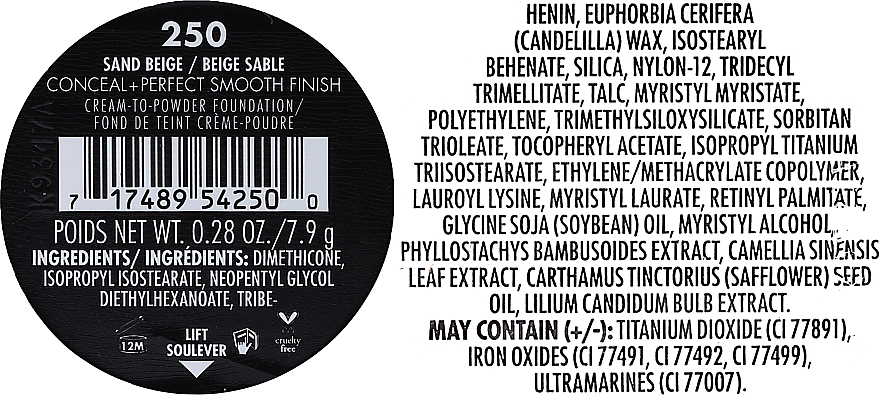 Cremige Puder-Foundation mit mattem Finish - Milani Conceal + Perfect Smooth Finish Cream To Powder — Bild N8