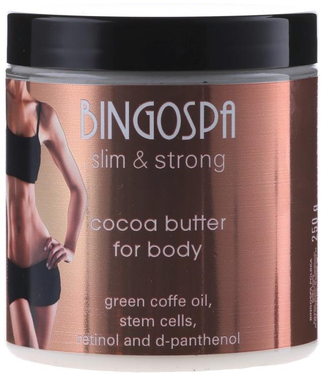 Straffende Kakaobutter füe den Körper mit mit Stammzellen, Retinol und D-Panthenol - BingoSpa Cocoa Butter Massage Cream — Bild N1