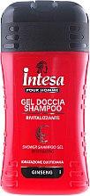 Düfte, Parfümerie und Kosmetik Duschgel und Shampoo mit Ginseng - Intesa Classic Black Shower Shampoo Gel Revitalizing