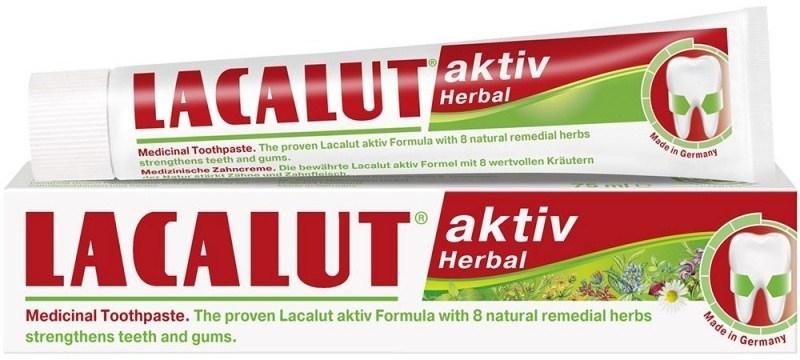 Zahnpasta zur Stärkung von Zähnen und Zahnfleisch - Lacalut Aktiv Herbal Toothpaste — Bild N1