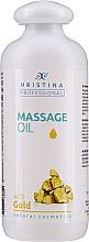 Düfte, Parfümerie und Kosmetik Nährendes und regenerierendes Massageöl für den Körper mit Goldpuder - Hristina Professional Gold Massage Oil