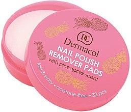 Düfte, Parfümerie und Kosmetik Nagellack-Entfernungspads mit Ananasduft - Dermacol Nail Polish Remover Pads