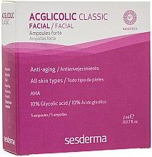 Düfte, Parfümerie und Kosmetik Anti-Aging Gesichtsampullen mit Glykol- und AHA-Säure 5 St. - SesDerma Acglicolic Classic Ampoules Forte
