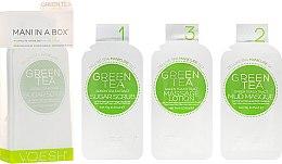 Zuckerpeeling für schöne Hände und Nägel mit grünem Tee - Voesh Mani In A Box Green Tea (10 g) — Bild N1