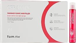 Düfte, Parfümerie und Kosmetik Nährender und feuchtigkeitsspendender Haarfiller mit Ceramiden - FarmStay Ceramide Damage Clinic Hair Filler