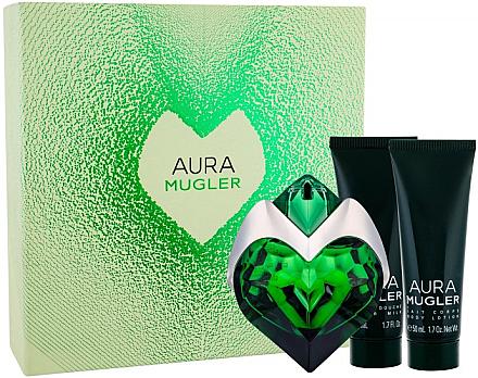 Mugler Aura Mugler - Duftset (Eau de Parfum 50ml + Körperlotion 50ml + Duschgel 50ml) — Bild N1