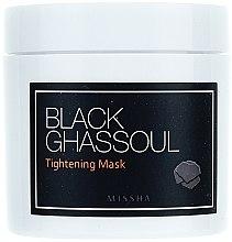 Straffende und glättende Gesichtsmaske zur Verengung der Poren mit schwarzer Lavaerde - Missha Black Ghassoul Tightening Mask — Bild N2