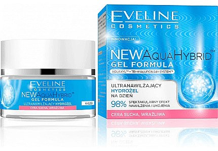 Extra feuchtigkeitsspendende Tagescreme-Gel - Eveline Cosmetics Aqua Hybrid Gel — Bild N1