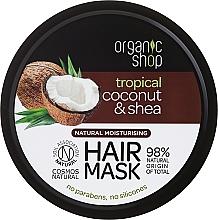 Düfte, Parfümerie und Kosmetik Feuchtigkeitsspendende Haarmaske mit Kokosnuss und Sheabutter - Organic Shop Coconut & Shea Moisturising Hair Mask