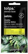 Düfte, Parfümerie und Kosmetik Gesichtsmaske zur Entgiftung (Mini) - Tolpa Dermo Face Sebio Black Detox Mask