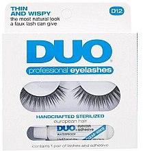 Düfte, Parfümerie und Kosmetik Künstliche Wimpern mit Klebstoff - Ardell Duo Lash Kit Professional Eyelashes Style D12