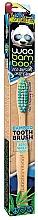 Düfte, Parfümerie und Kosmetik Bambus-Zahnbürste mittel blau-grün - Woobamboo Toothbrush Zero Waste Adult Bamboo Medium Bristle
