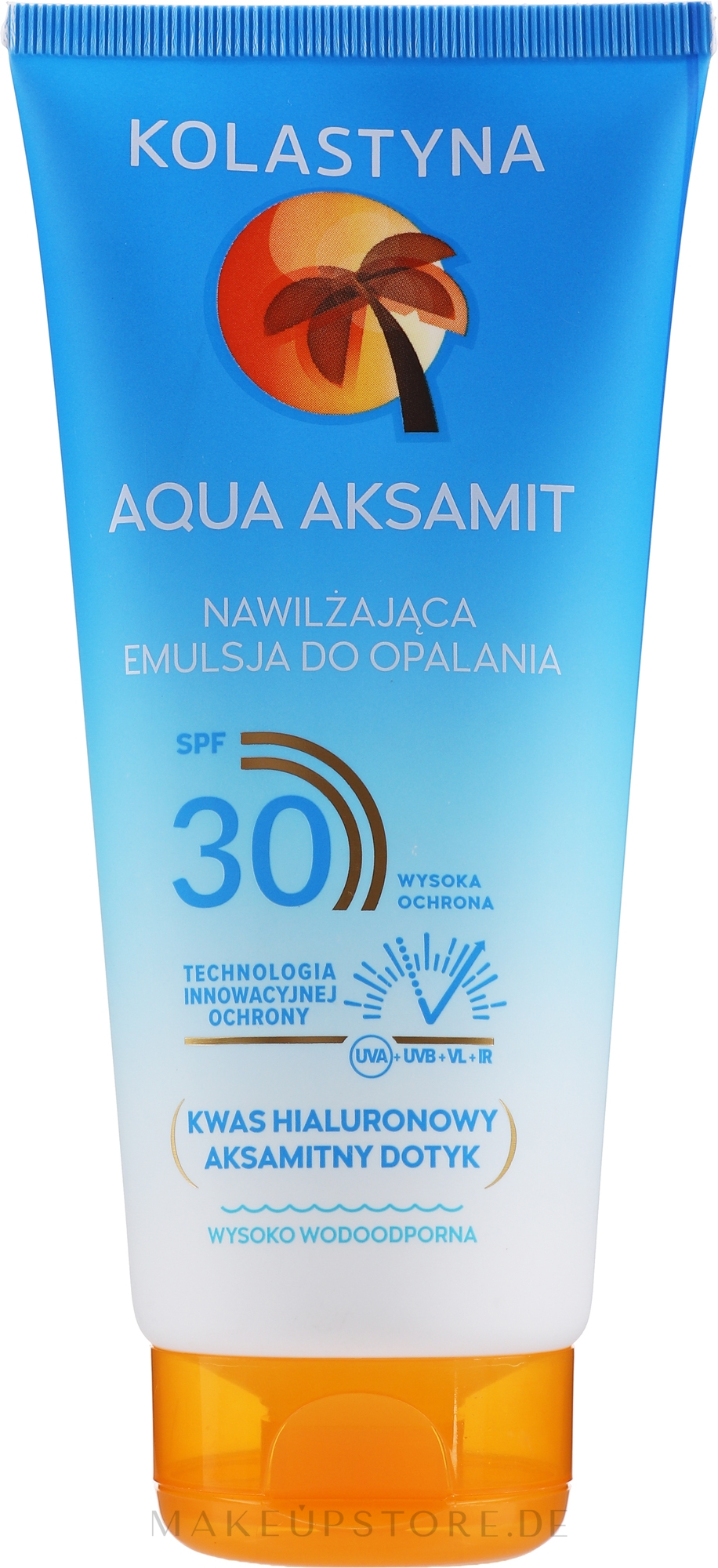 Feuchtigkeitsspendende Sonnenschutzemulsion für den Körper SPF 30 - Kolastyna Aqua Aksamit Suncare Emulsion SPF 30 — Bild 200 ml