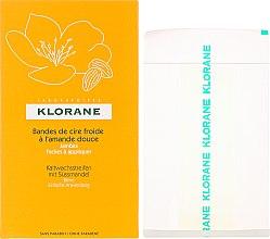 Düfte, Parfümerie und Kosmetik Kaltwachsstreifen mit Süssmandel - Klorane Cold Wax Strips