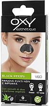 Düfte, Parfümerie und Kosmetik Nasen-Patches mit Aktivkohle und Aloe Vera gegen Mitesser - Oxy Black Strips