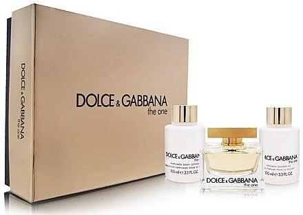 Dolce & Gabbana The One - Duftset (Eau de Parfum/75ml + Körperlotion/100ml + Duschgel/100ml) — Bild N1