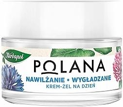 Düfte, Parfümerie und Kosmetik Feuchtigkeitsspendende und glättende Gelcreme für den Tag mit Kornblume, Seerose, Lein und Gurke - Polana