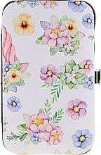Düfte, Parfümerie und Kosmetik Maniküre-Set 2429 weiß mit Blumen - Donegal Manicure Set