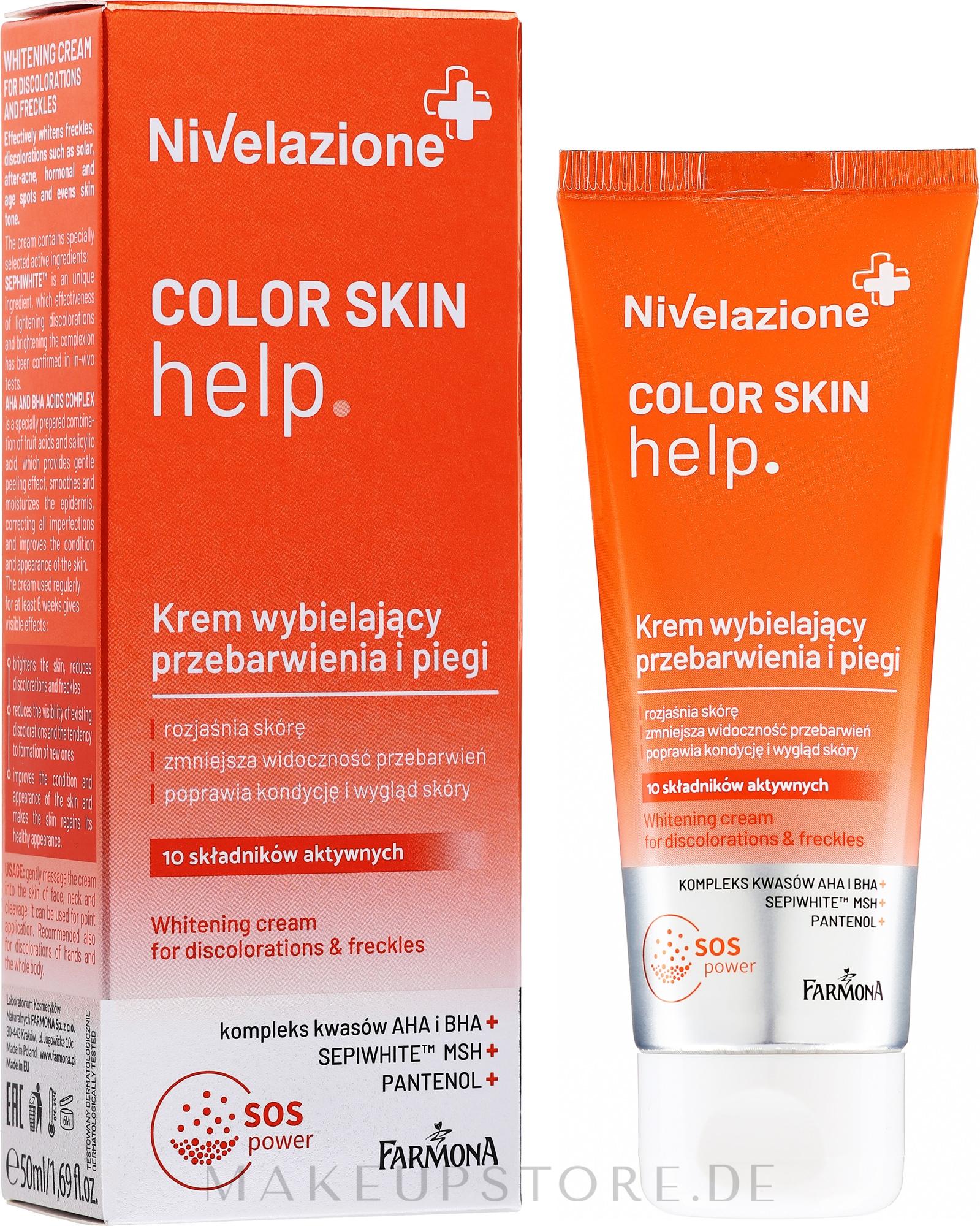 Bleichende Gesichtscreme - Farmona Nivelazione Whitening Cream — Bild 50 ml
