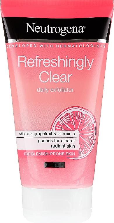 Gesichtspeeling mit rosa Grapefruit und Vitamin C - Neutrogena Refreshingly Clear Daily Exfoliator