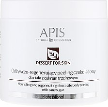 Düfte, Parfümerie und Kosmetik Nährendes und regenerierendes Zuckerpeeling für Körper mit Schokoladenduft - APIS Professional Dessert For Skin Nourishing And Regenerating Chocolate Body Peeling