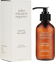 Düfte, Parfümerie und Kosmetik Gesichtswaschschaum mit Rosenwasser und Lindenblüte - John Masters Organics Rose Foaming Face Wash