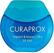 Düfte, Parfümerie und Kosmetik Zahnseide für Spangen, Klammern und Zahnersatz - Curaprox DF845 Implant & Braces