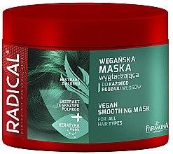 Düfte, Parfümerie und Kosmetik Glättende Haarmaske mit Glanzeffekt und Aloe Vera-Extrakt - Farmona Radical Vegan Smoothing Hair Mask