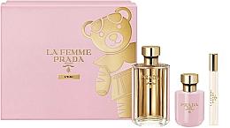 Düfte, Parfümerie und Kosmetik Prada La Femme L'Eau - Duftset (Eau de Toilette 100ml + Körperlotion 100ml + Eau de Toilette (mini) 10ml)