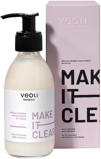Reinigungsmilch für das Gesicht - Veoli Botanica Face Cleansing Milk Emulsion Make It Clear