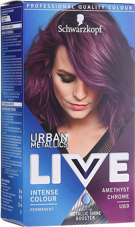 Haarfarbe - Schwarzkopf Live Urban Metallics Intense Colour — Bild N1