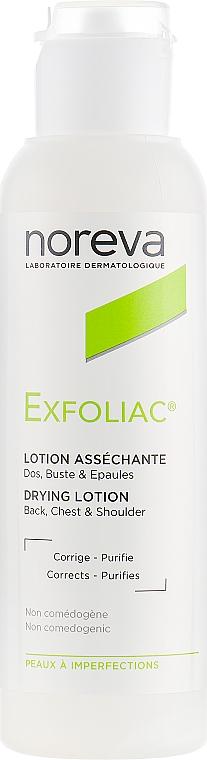 Gesichts-, Rücken- und Brustlotion für fettige und Problemhaut - Noreva Laboratoires Exfoliac Drying Lotion — Bild N1